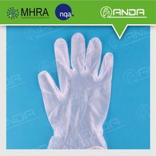 AD004 health care product PVC vinyl disposable powder free gloves