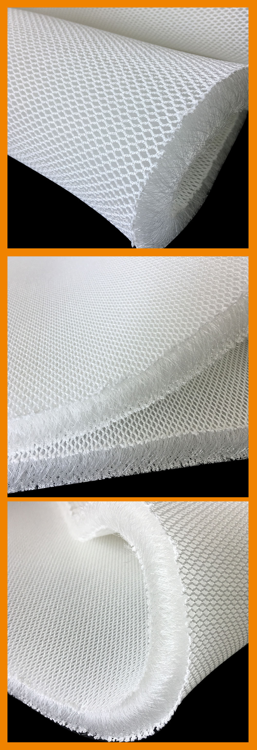 mattress pad nad pillow filling material 3d air mesh fabric 20mm