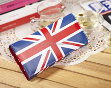 The British union jack leather wallet for teens/clutch