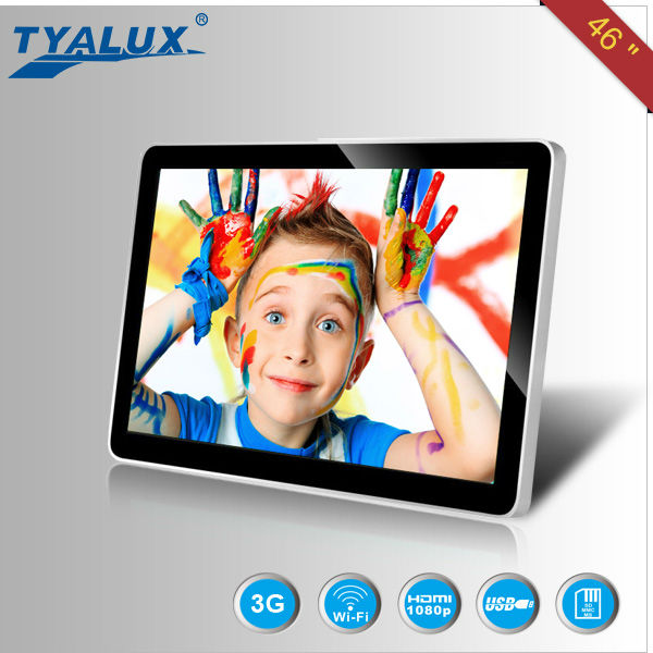 2014 high quality 46 inch android 4.2 hd media player