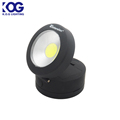 Small Round Battery Powered Foldable 150 Lumen COB LED with Magnetic Base Work Light and hanging hook