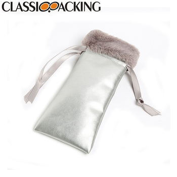 Design custom drawstring glasses cleaning case pouch bag