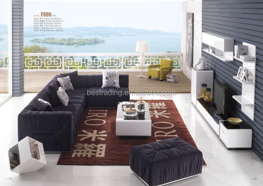 New Design Velvet Modern Fabric Sofa Turkey 2013