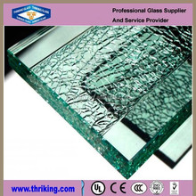 Thriking Grade A clear float tempered glass for wall