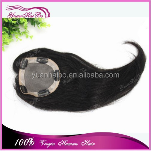 New Wholesale Alibab Virgin Brazilian Remy Mono Top Closures with PU Clip in Human Hair Topper for Women