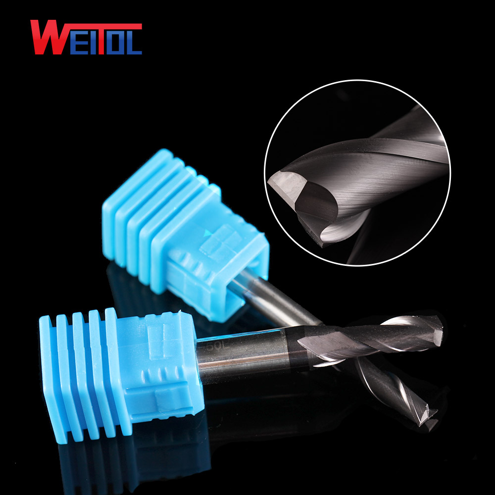 Weitol carbide end mill cutter wholesale goods Size:1*3C*4D*50L Four flute flat bottom HRC50 end mill black coating