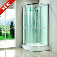6MM tempered curved glass round corner shower enclosure