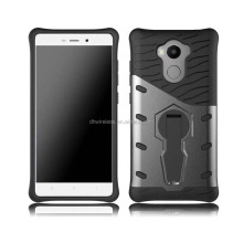 pc tpu cover for mi redmi 4 protector cover, rotatable stand case for redmi 4