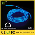 """D"" shape(semi-circle) EL Wire---Transparent Blue"