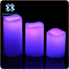 2015 Hotel Decorative Waterproof Submersible LED Floating Candles,flameless moving wick led candle