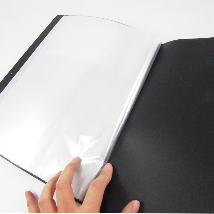 Display <strong>book</strong> with elastic band PVC plastic cover with elastic strap string 30pockets