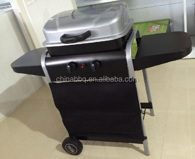 Outdoor gas bbq grill Camping built in bbq with 2 burner