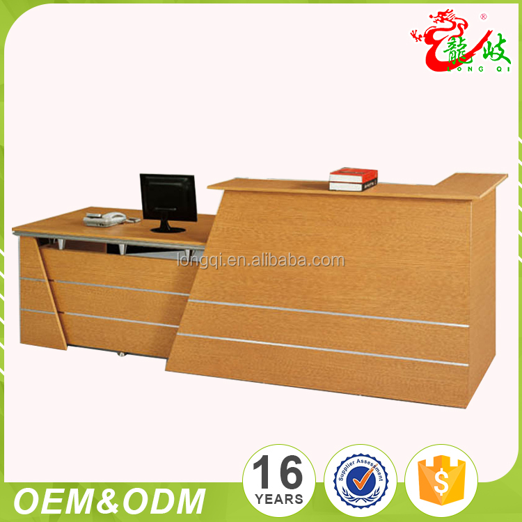Fashion modern reception desk office table wooden front counter desk hotel furniture