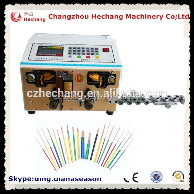 Automotive wiring harness enamelled round wire paint scraper machine electric car cable cutting and stripping machine
