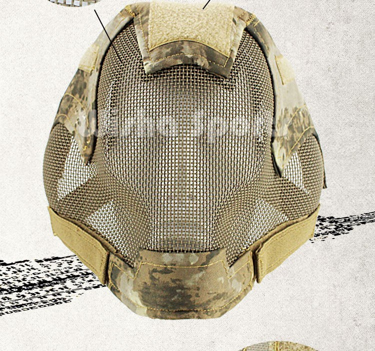 G6 Full Face Protection Steel Mesh Military tactical Mask