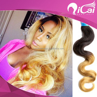 Two Tone Ombre Hair Weaves 100% Human Braiding Hair Peruvian Remy Hair Body Wave Extension New Fashion For Your Beauty