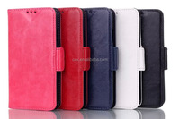 High Quality Vintage Crazy Horse PU Leather with Card Slot Holder Stand Case For Samsung Galaxy S5 i9600