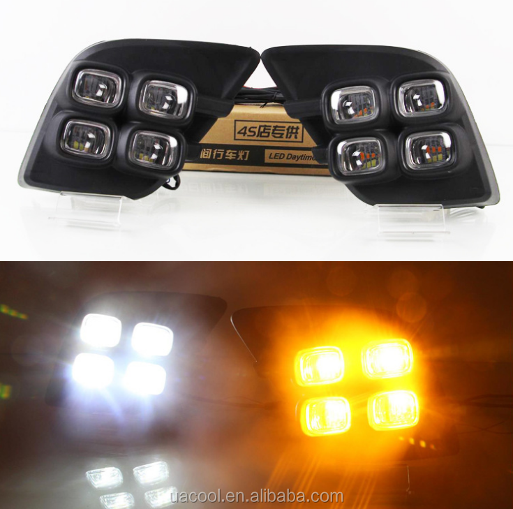 LED DRL Auto Drl Lamp drl Daytime Running Lights for for 16-17 Toyota Hilux Revo Vigo