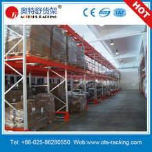 Industrial Warehouse Storage Push Back Pallet Racking From OTS