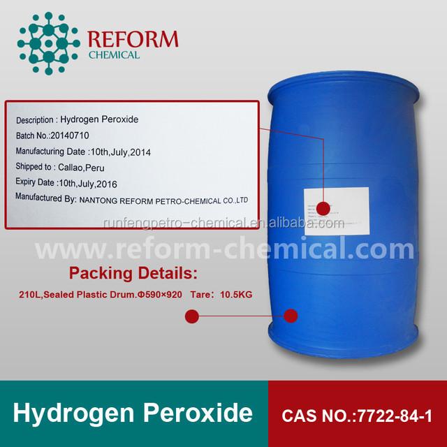 food grade hydrogen peroxide 35%,50%,60% CAS NO.7722-84-1