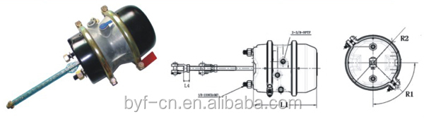 Brake chamber T3030 Double Clamps