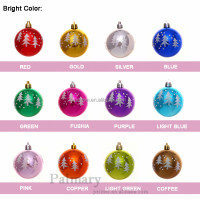 Shiny /Matte/ Transparent Plastic painting Christmas ball Christmas ornament 6cm, 7cm, 8cm or customized