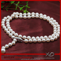 XD YSIP0361 fine 925 silver magnetic clasp classic cultured pearl necklace price