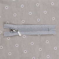 zipper manufacturer N0.5 nylon high quality closed end silver teeth and tape zipper product type