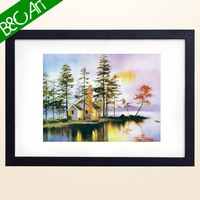 Z(1320) Wholesale Beautiful Village Scenery Painting on Canvas