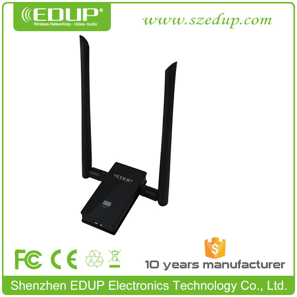 EDUP EP-AC1605 11ac 1200Mbps USB WiFi Adapter with 2* 6dBi WiFi Antenna