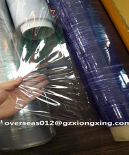 India blue pvc stretch film roll soft pvc shrink film normal clear pvc film use for packing mattress and furniture