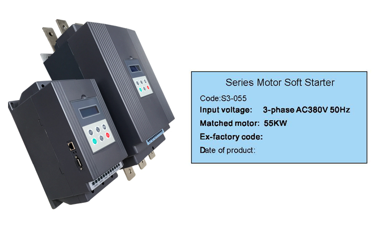 22kw 380v 660v 1140v ac 3 phase soft starters for electric for Single phase motor soft starter