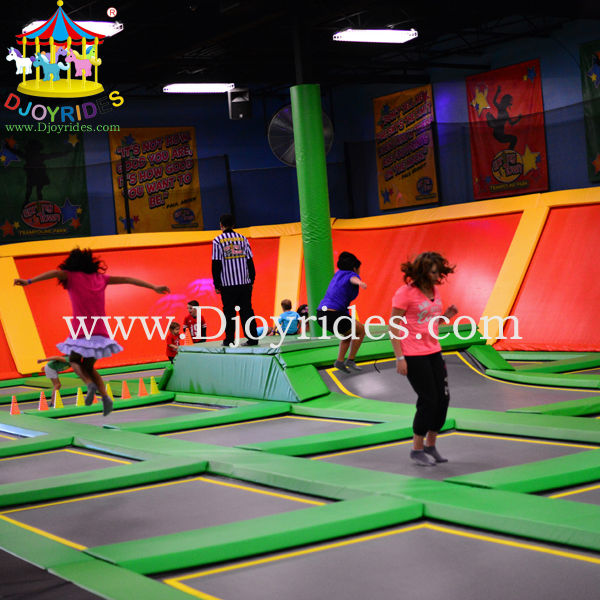 Low Cost Playground Indoor Trampoline Park Customized Size
