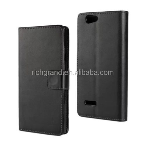 PU black magnetic wallet leather stand case for ZTE Blade L2 mobile phone cover