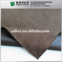 100% Polyester brown color woven sherpa suede fabric skirt shoes fabric wholesale