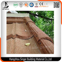 Stone Coated Steel Roofing Tile Flat Roofing Materials Sheet/ Metal Roofing Tiles for Sale