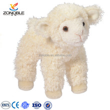 Custom cheap plush sheep toy fashion cute white soft plush lamb stuffed animal