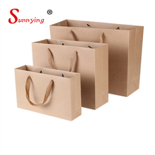 Apparel Recycled Eco Friendly Flat Handle Kraft Paper Bag