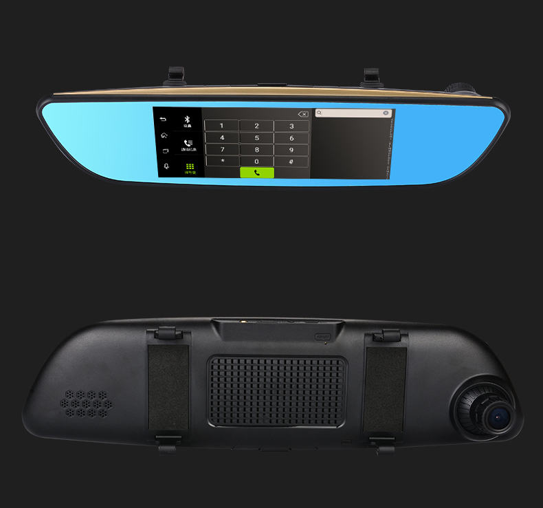 3g / GPS navigation/wifi /wireless rearview mirror dash camera dual camera