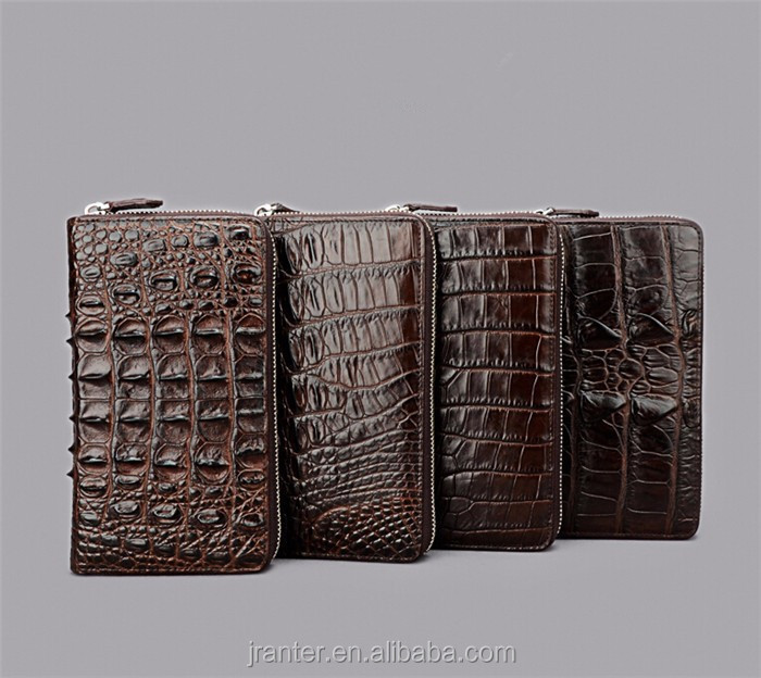 Fashion Luxury Handmade Men Business Wallet Real Crocodile leather Clutch Wallet Men_14