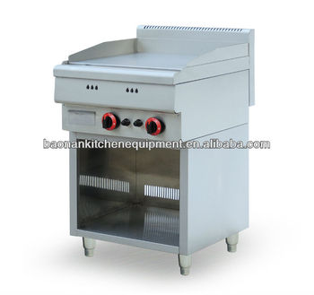 Stainless steel industrial gas griddle