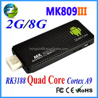 MK809III rk3188 quad core 1.8g android tv hdmi stick ethernet