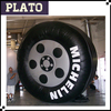giant inflatable automobile tire/inflatable billboard for sale
