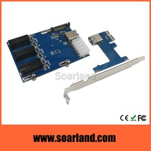 High Performance PCI-E 1x 1 to 3 Ports Expansion Riser Card for ETH ETC Mining Bitcoin Litcoin