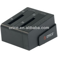 ORICO 2.5''&3.5'' all-in-1 dual SATA HDD docking station; 2 bay HDD dock; USB3.0 docking station