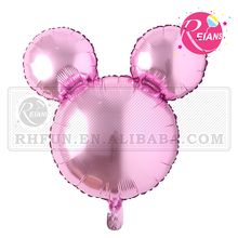 Reians Huge Pink Mickey Minnie Head mouse cartoon foil helium gas balloon nylon gift promotional balloon seal wholesale balloon