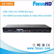 Mixed Input USB, VGA, AV, HDMI Video Wall Controller Support 2X2 and 3X3