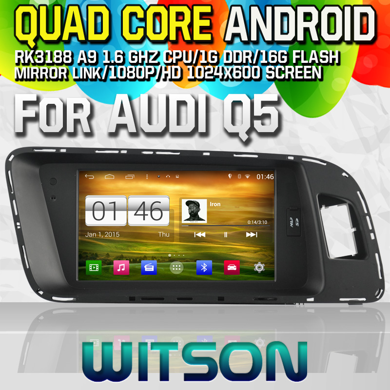 Witson S160 Android 4.4 Car DVD GPS For AUDI Q5 with Quad Core Rockchip 3188 1080P 16g ROM WiFi 3G