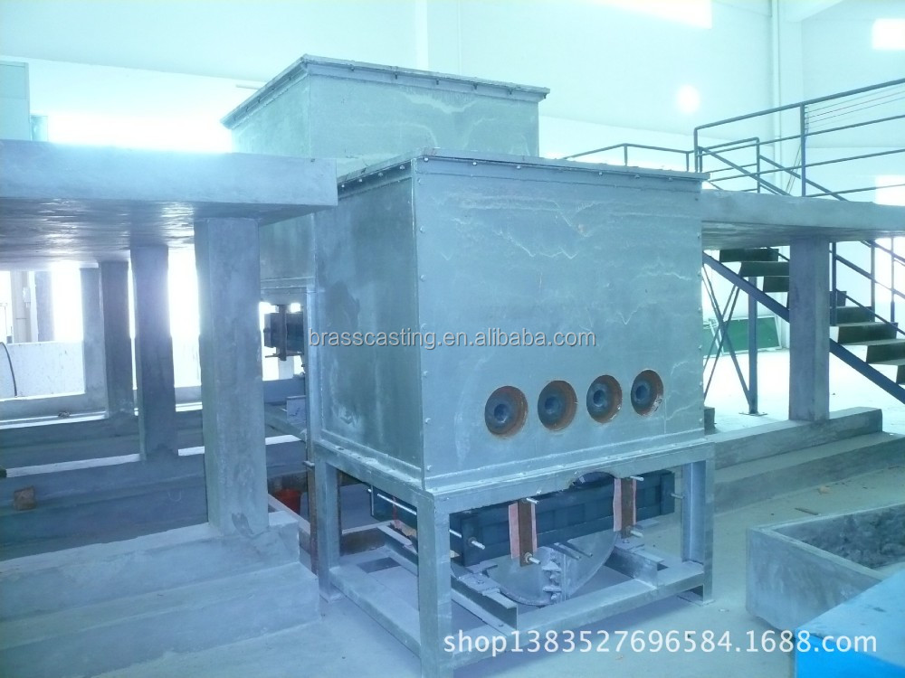 melting and holding combine furnace for copper casting