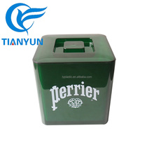 Square shape Plastic Ice Bucket For Bar/Parties/Hotel With Lid